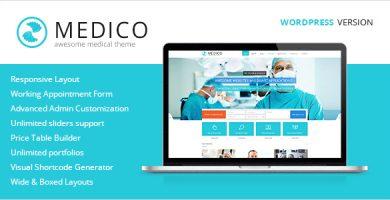 قالب Medico - قالب وردپرس پزشکی و سلامتی