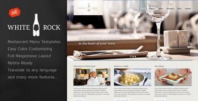 قالب White Rock - قالب وردپرس رستوران و نوشیدنی