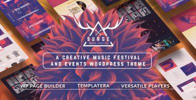 قالب Surge - قالب وردپرس فستیوال موسیقی