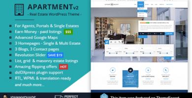 قالب آپارتمان | Apartment WP - قالب وردپرس ثبت املاک و پرتا آژانس