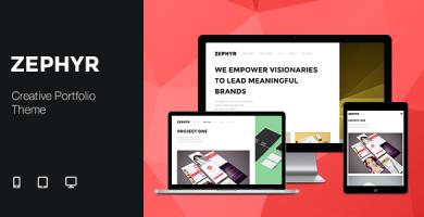 زفایر | Zephyr - قالب نمونه کار خلاقانه وردپرس