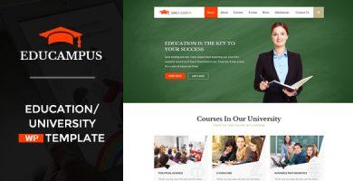 قالب Educampus - قالب وردپرس آموزشی و دانشگاهی