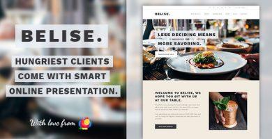 قالب Belise - قالب وردپرس برای سایت رستوران