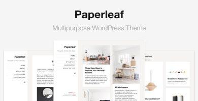 قالب Paperleaf - قالب وردپرس چند منظوره مینیمال