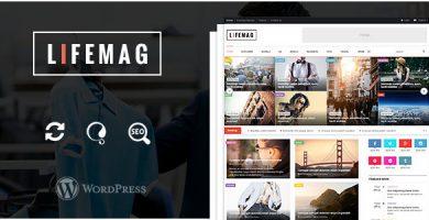 قالب LifeMag - قالب مجله وردپرس