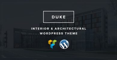 قالب Duke - قالب وردپرس طراحی داخلی و معماری