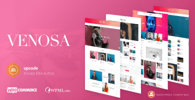 قالب Venosa - قالب وردپرس مجله و وبلاگ