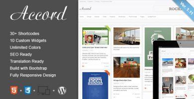 قالب Accord - قالب وبلاگ وردپرس ریسپانسیو