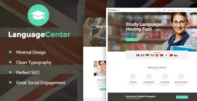 قالب Language Center - قالب وردپرس مدرسه آنلاین