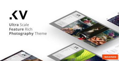 قالب Kreativa - قالب عکاسی برای وردپرس