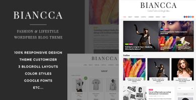 قالب Biancca - پوسته بلاگی وردپرس ویژه مد و سبک زندگی
