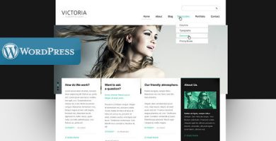 Victoria - قالب وردپرس