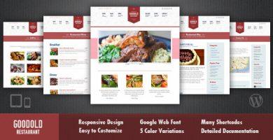 قالب Goodold Restaurant - قالب وردپرس ریسپانسیو