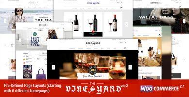 قالب WineStore - قالب ووکامرس ریسپانسیو