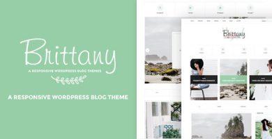 قالب Brittany - قالب وبلاگ وردپرس