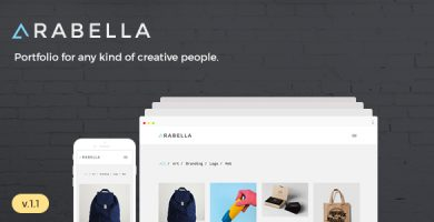 Arabella - قالب نمونه کار مینیمال وردپرس