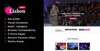 قالب lisbon - قالب وردپرس کنفرانس و رویداد