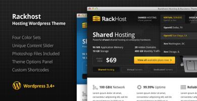 قالب Rackhost - قالب وردپرس هاستینگ