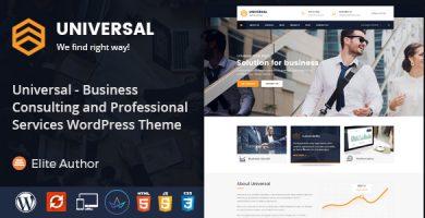 Universal - قالب وردپرس مشاوره کسب و کار و خدمات حرفه ای