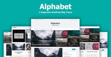 قالب Alphabet - قالب وبلاگ وردپرس