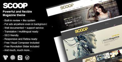 قالب Scoop - یک قالب مجله ای برای وردپرس