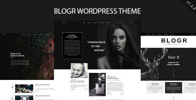 قالب BLOGR - قالب وردپرس برای بلاگ نویسان خاص