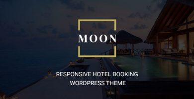 قالب Moon - قالب وردپرس رزرو هتل