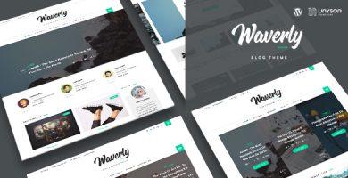 قالب Waverly - قالب وبلاگ وردپرس مدرن