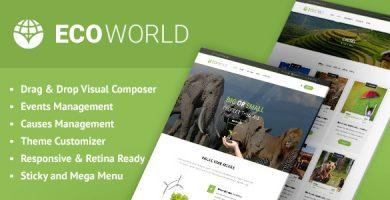 قالب Eco World - قالب وردپرس طبیعت، محیط زیست و سازمان های غیر دولتی