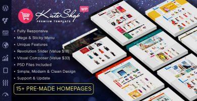 قالب کات شاپ | KuteShop - قالب وردپرس فروشگاهی
