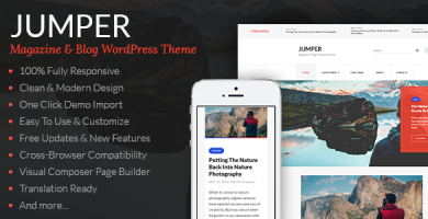 قالب Jumper - قالب وردپرس مجله و وبلاگ