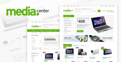 قالب مدیا سنتر | MediaCenter - قالب فروشگاهیی ووکامرس