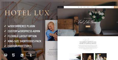 قالب Hotel Lux - قالب وردپرس هتل