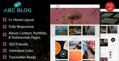 قالب Abcblog - قالب مجله و وبلاگ برای وردپرس