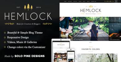 قالب Hemlock - قالب وبلاگ وردپرس