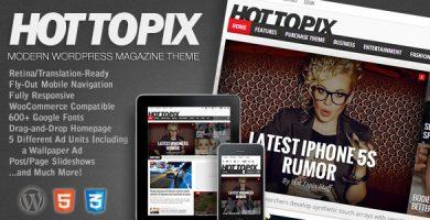 قالب Hot Topix - قالب وردپرس مجله مدرن