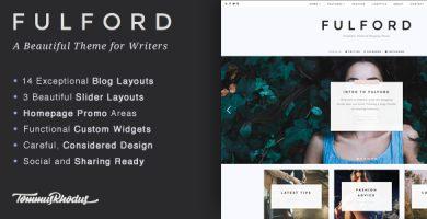 قالب Fulford - قالب وبلاگ نویسی وردپرس