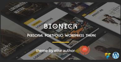 قالب بیونیک | Bionick - قالب وردپرس نمونه کار شخصی