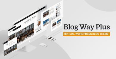 قالب Blog Way Plus - قالب وردپرس وبلاگی مینیمال