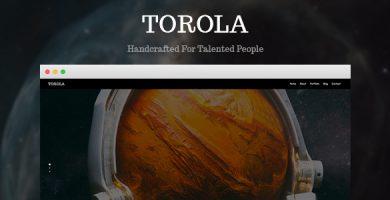قالب Torola - قالب عکاسی مدرن