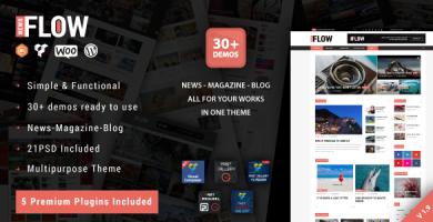 قالب Flow News - قالب وردپرس مجله و بلاگ