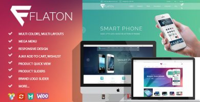 قالب Flaton - قالب وردپرس دیجیتال