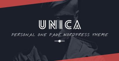 قالب Unica - قالب نمونه کار و رزومه شخصی