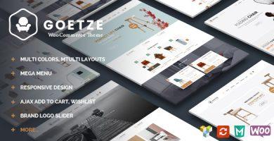 قالب Goetze - قالب وردپرس فروشگاهی