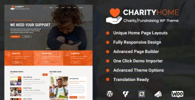 Charity Home - قالب وردپرس خیریه