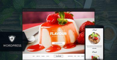 قالب The Flavour - قالب وردپرس رستوران