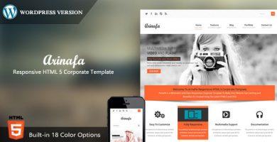 ArinaFA - قالب وردپرس شرکتی