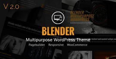 قالب Blender - قالب نمونه کار برای وردپرس