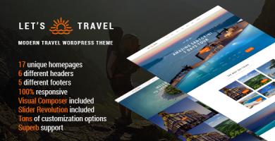 قالب Let's Travel - قالب وردپرس آژانس مسافرتی
