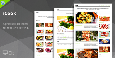 قالب iCook - قالب وردپرس وبلاگ غذا